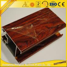 Excellentes pièces en aluminium de porte en bois pour la décotation en aluminium de meubles