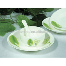 Feuilles vertes coupe naturelle décoration porcelaine céramique plaque de porc