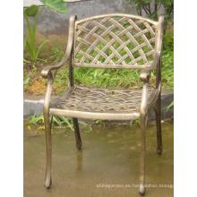 Jardín del metal fundición de aluminio sistema de silla los muebles al aire libre