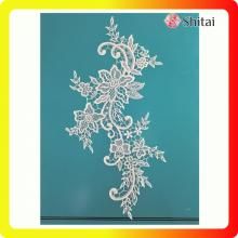 Factory supplied for China Wedding Appliques,Net Embroidery Lace,Bridal Lace Appliques Supplier The popular tulle embroidery flower lace export to United States Wholesale