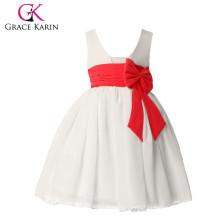 Grace Karin Sleeveless Princess White Flower Girls Dresses CL4608