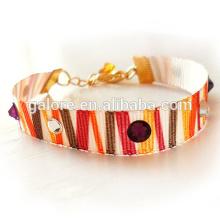 high quality fashion wholesale costume jewelry ribbon bracelets