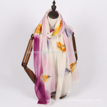 high quality women hand painting pashmina scarf