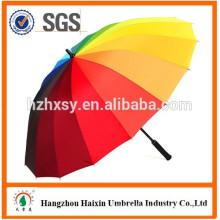 Rainbow Colored 16 Rib Golf Umbrella Company