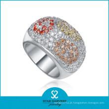 Charme micro pavimentar jóias anel de prata para amostra grátis (r-0140)