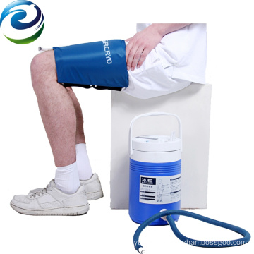 High Efficiency Orthopedic Post-surgery Cooling Down Thigh Cryo Cuff