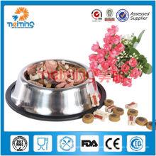 cuenco para mascotas de hueso antideslizante de acero inoxidable
