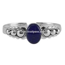 Bracelet en argent sterling Lapis Gemstone 925