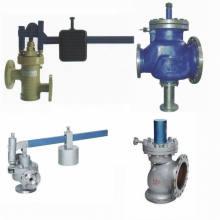 Aplicación del dispositivo de seguridad de impulso (válvula) / Características y principio de funcionamiento