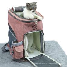 Storage Pet Backpack Portable Folding Pet Bag External Expansion Pet Carrier Folding Cat Bag
