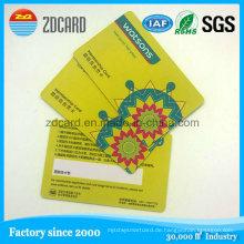 Vier Farbdruck PVC kontaktlose IC / ID 13,5 MHz NFC Smart Card
