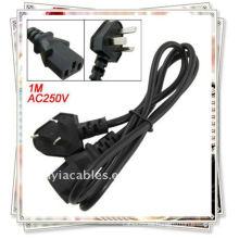 1M PC Displayer 250V 10A AU enchufe a C15 cable de alimentación del zócalo