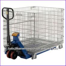 Erleichtern den Gabelstapler mit galvanisierten Metallpalettenkäfigen