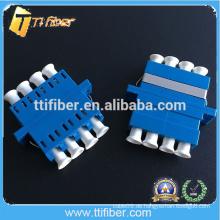 Blaue Farbe Quad LC Glasfaser-Adapter