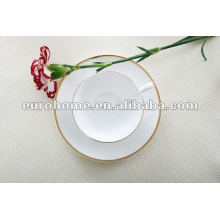 Золотой & белый тонкий костяной фарфор чайный сервиз -eurohome gold