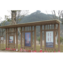 2014 High Quality Cheap WPC Durable Bus Shelter / Gazebos