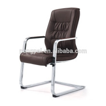 PU leather office chair with chrom base / chrom armrest with padded