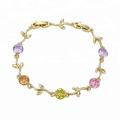 73700 Alibaba haute qualité en forme de feuille conçu bracelet 14k bijoux en or en gros