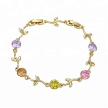 73700 Alibaba high quality leaf shape designed bracelet 14k gold jewelry wholesale