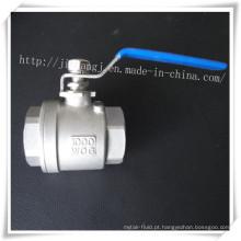 Válvula de esfera de aço inoxidável 2p