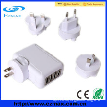 4 port usb output multiple usb charger travel wall charger