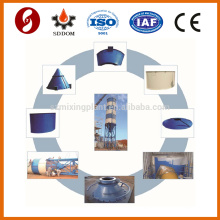 Tanque de silo de cemento móvil de 100 toneladas