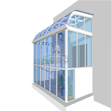 Sunroom modular Glass House Habitación para el sol de cuatro estaciones