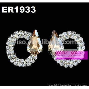 Boucles d'oreilles en cristal à la mode