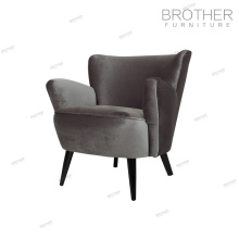 Luxury home hotel restaurant furniture wood frame relaxing sofa accent chair
