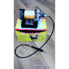 "3 ""150W CE EMC Jewelers Portable Hobby Craft Petit finisseur à bancs Electric Power 75mm Mini Bench Grinder"