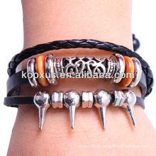Joyería de pulsera de cuero Wrap KSQN-20