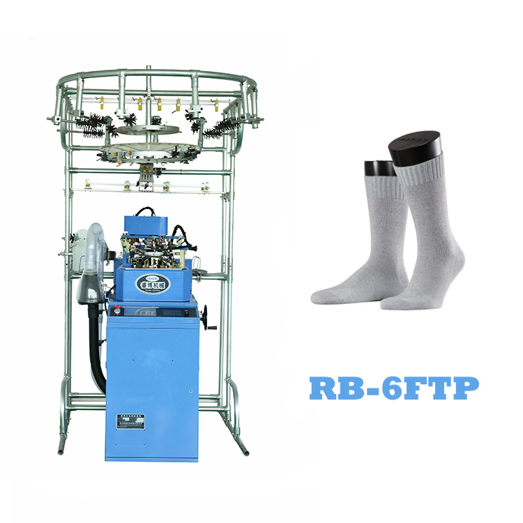 Double cylinder knitting machine for socks production line