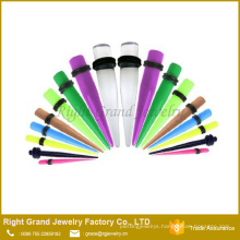 Factory Price OEM Fashion UV Acrylic Clear Ear Taper Jewelry