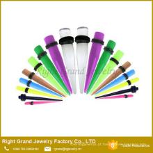Preço de fábrica OEM Moda UV Acrílico Claro Ear Taper Jóias