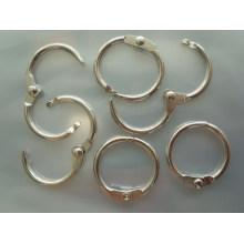 Anneau métallique en argent rond anneau décoratif de haute qualité anneau métallique ouvert à vendre
