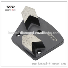 Herramienta de rectificado trapezoidal de flecha para la eliminación de pintura de hormigón, revestimiento epoxi