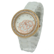 Sapphire Crystal 2014 Ceramic Trendy Fashion Women Watch (DYCE80052B)