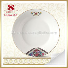 red elegant square gold charger plate