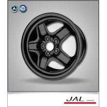 Popular Design Rodas de carro de alta qualidade de aço 6.5x16 com 5 furos de ventilação