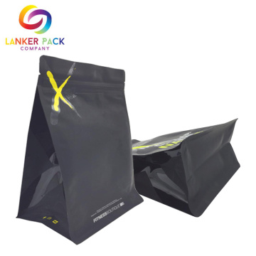 Percetakan Custom Aluminium Foil Flat Bottom Protein Bag