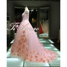 1A416 Menina pura Sweethear A-Line Pink Prom Dresses Vestido de vestidos de baile