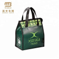 laminated non woven folding zipper bag with handle