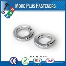 Hecho en Taiwán Acero inoxidable medio dividido grueso Split Lock Zinc plateado de acero Split Lock arandela