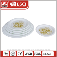 pp plastic plate with printing, various sizes