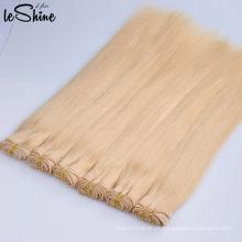 100% natural humano duplo face mel loiro cabelo brasileiro tecer