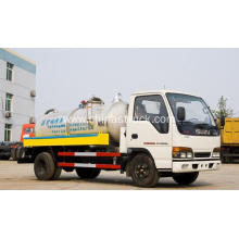 ISUZU 3Ton stainless steel vacuum suction tank truck