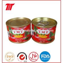 Pâte de tomate en étain de 210 g pour le Nigeria, le Bénin et l'Afrique de l'ouest du Togo