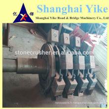Rotor de broyeur à marteaux, arbre principal, boulons, couvercle