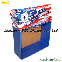 Cardboard Hook Display, Paper Stand with MDF, Hooks Display Stand (B&C-D052)
