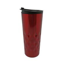 Gesteppte Edelstahl Vakuum Kaffee-Haferl rot, blau 400ml